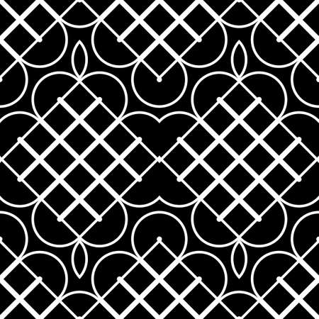 Design seamless monochrome geometric pattern. Abstract decorative background. Vector art Illustration