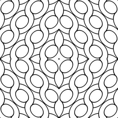 Design seamless geometric pattern. Abstract monochrome ellipse background. Vector art