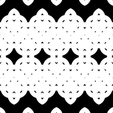 Design seamless monochrome decorative pattern. Abstract zigzag background. Vector art Illustration