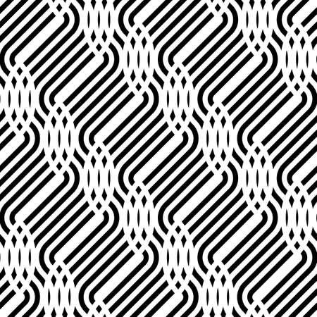 Design seamless monochrome stripy pattern. Abstract background. Vector art