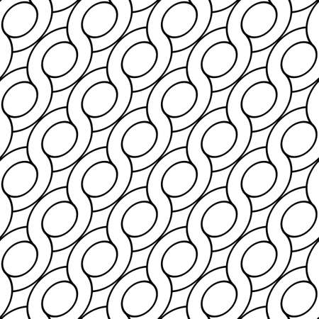 Design seamless spiral twisted pattern. Abstract monochrome ellipse background. Vector art Illustration