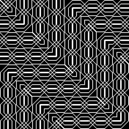 Design seamless monochrome geometric pattern. Abstract zigzag background. Vector art Illusztráció