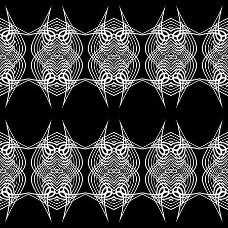 Design seamless monochrome grid pattern. Abstract lacy background. Vector art Stock Vector - 127066679