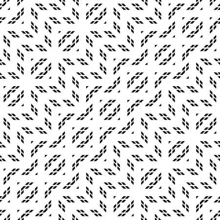 Design seamless monochrome geometric pattern. Abstract zigzag background. Vector art Vettoriali