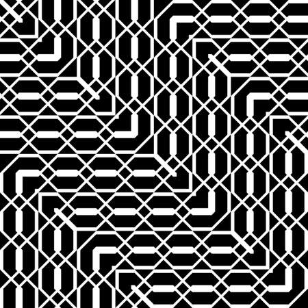 Design seamless monochrome geometric pattern. Abstract zigzag background. Vector art Illustration