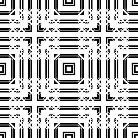 Design seamless monochrome grid pattern. Abstract background. Vector art Stock Illustratie