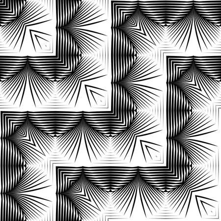 Design seamless monochrome zigzag pattern. Abstract background. Vector art. No gradient