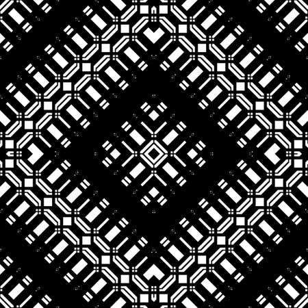 Design seamless monochrome geometric pattern. Abstract grating background. Vector art  イラスト・ベクター素材