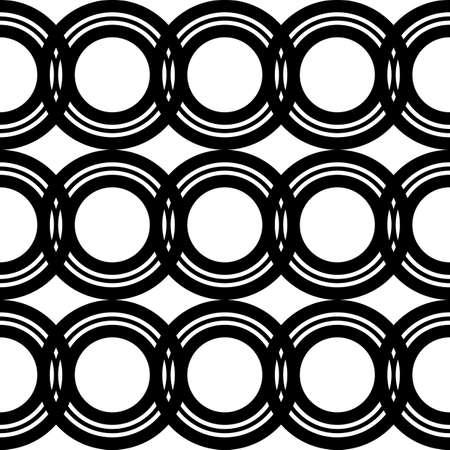 Design seamless geometric pattern. Abstract monochrome circle background. Vector art Stock Illustratie