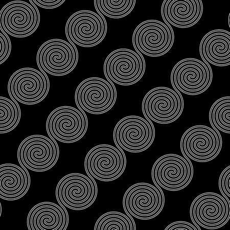 Design seamless spiral pattern. Abstract monochrome background. Vector art. No gradient