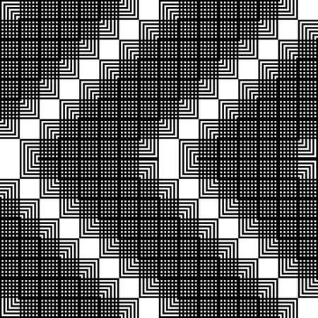Design seamless monochrome geometric pattern. Abstract zigzag background. Vector art Stock Illustratie