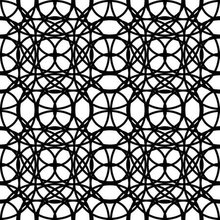 Design seamless grating pattern. Abstract monochrome interlaced background. Vector art