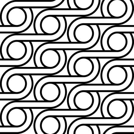 Design seamless geometric pattern. Abstract monochrome circle background. Vector art  イラスト・ベクター素材