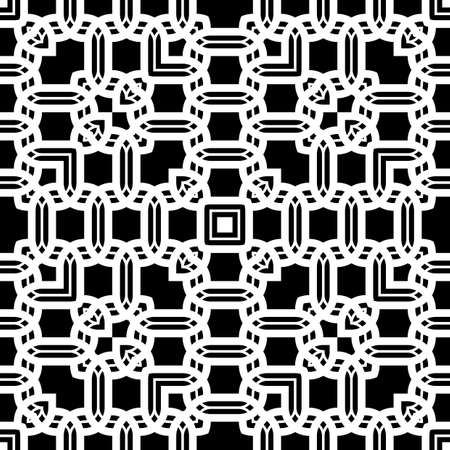Design seamless monochrome grid pattern. Abstract background. Vector art  イラスト・ベクター素材