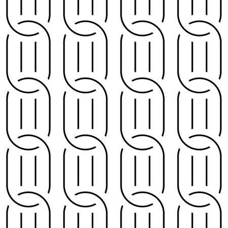 Design seamless chain pattern. Abstract monochrome ellipse background. Vector art Stock Illustratie