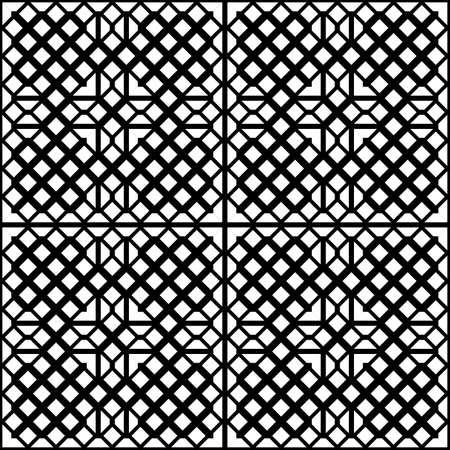 Design seamless monochrome grid pattern. Abstract geometric background. Vector art