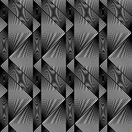 Design seamless monochrome geometric pattern. Abstract textured background. Vector art. No gradient Stock fotó - 129790158