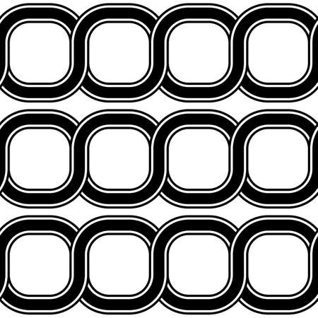 Design seamless spiral twisted pattern. Abstract monochrome background. Vector art