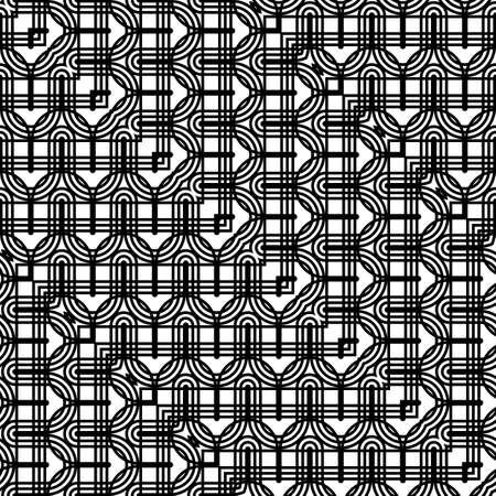 Design seamless monochrome grid pattern. Abstract zigzag background. Vector art Stock Illustratie
