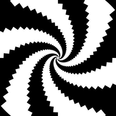 Design monochrome spiral movement illusion background. Abstract design backdrop. Vector-art illustration Illustration