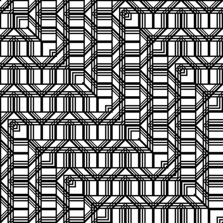 Design seamless monochrome grating pattern. Abstract zigzag background. Vector art