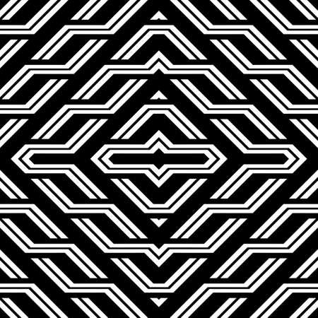 Design seamless monochrome geometric pattern. Abstract diamond background. Vector art