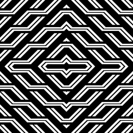Design seamless monochrome geometric pattern. Abstract diamond background. Vector art