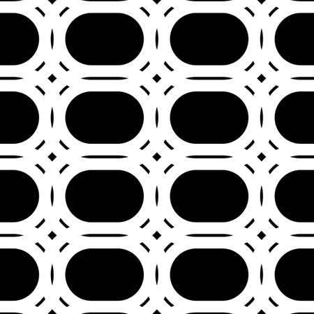 Design seamless monochrome grid pattern. Abstract geometric background. Vector art