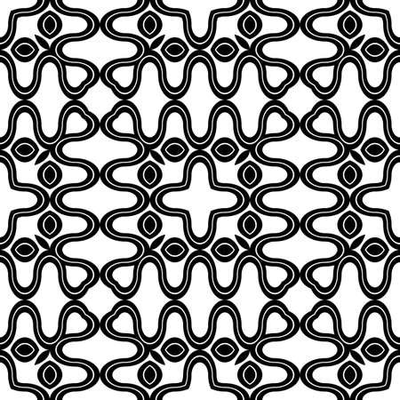 Design seamless monochrome zigzag pattern. Abstract decorative background. Vector art 일러스트