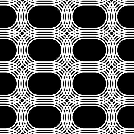 Design seamless monochrome grid pattern. Abstract interlaced background. Vector art