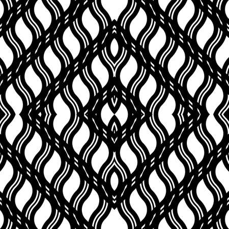 Design seamless monochrome grating pattern. Abstract diamond background. Vector art 일러스트