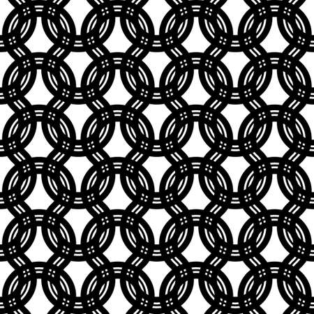 Design seamless monochrome zigzag pattern. Abstract interlaced background. Vector art 일러스트