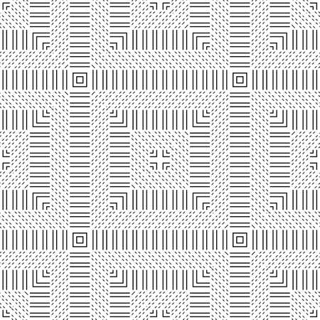 Design seamless monochrome stripy pattern. Abstract geometric background. Vector art