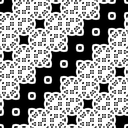 Design seamless monochrome decorative pattern. Abstract grid background. Vector art