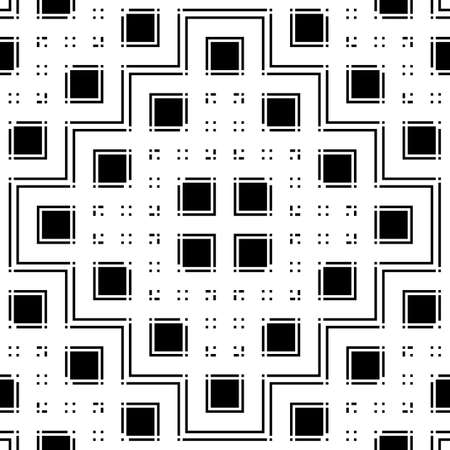 Design seamless monochrome geometric pattern. Abstract grating background. Vector art 일러스트