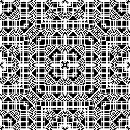 Design seamless monochrome grid pattern. Abstract decorative background. Vector art 일러스트