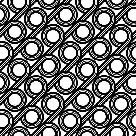 Design seamless geometric pattern. Abstract monochrome circle background. Vector art Ilustração