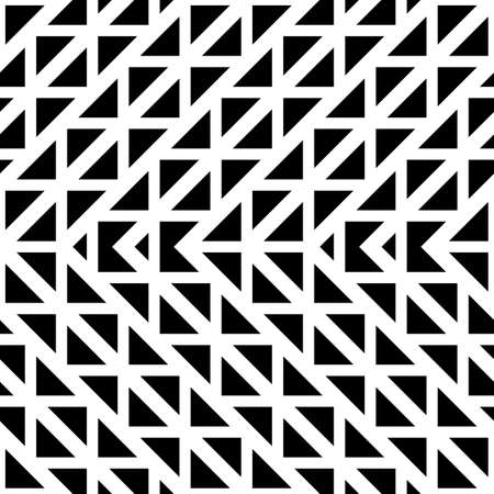 Design seamless monochrome geometric pattern. Abstract zigzag background. Vector art 일러스트