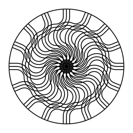 Design monochrome decorative circle element. Abstract backdrop. Vector-art illustration Illustration