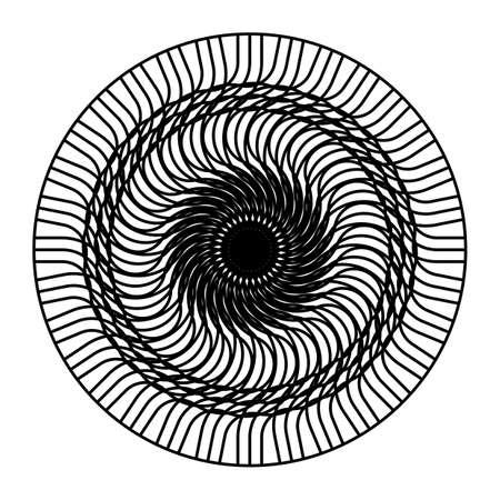 Design monochrome decorative circle element. Abstract backdrop. Vector-art illustration Standard-Bild - 132561978