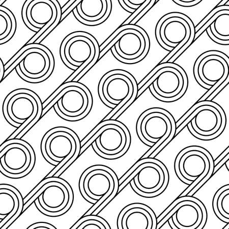 Design seamless geometric pattern. Abstract monochrome circle background. Vector art Ilustrace