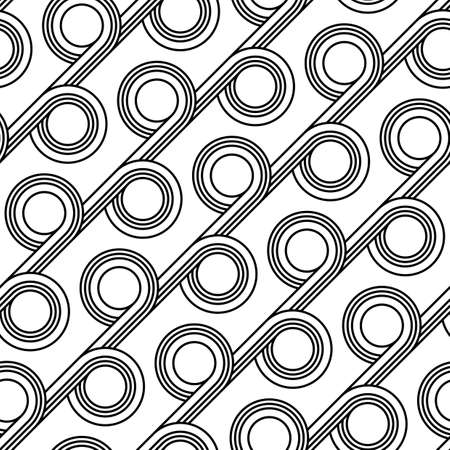 Design seamless geometric pattern. Abstract monochrome circle background. Vector art Reklamní fotografie - 133764746