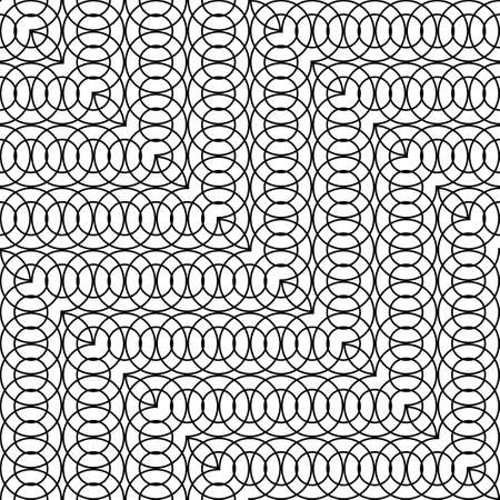 Design seamless zigzag pattern. Abstract monochrome grating background. Vector art Reklamní fotografie - 133764767
