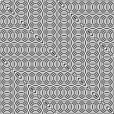 Design seamless zigzag pattern. Abstract monochrome grating background. Vector art