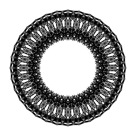 Design monochrome decorative circle element. Abstract backdrop. Vector-art illustration Ilustrace
