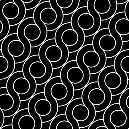 Design seamless spiral twisted pattern. Abstract monochrome circle background. Vector art