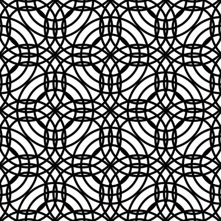 Design seamless grating pattern. Abstract monochrome interlaced background. Vector art Reklamní fotografie - 133764684