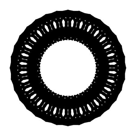 Design monochrome decorative circle element. Abstract backdrop. Vector-art illustration Reklamní fotografie - 133764582
