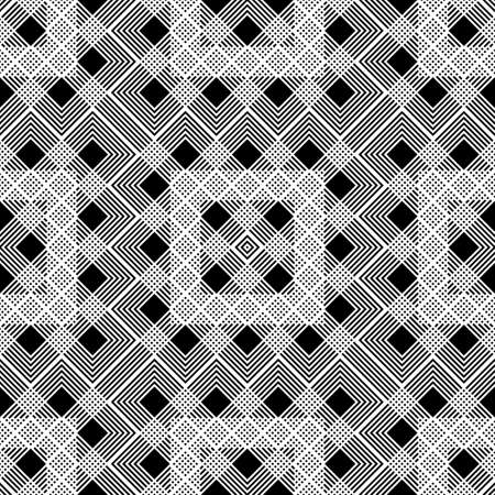 Design seamless monochrome geometric pattern. Abstract grating background. Vector art