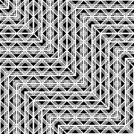 Design seamless monochrome geometric pattern. Abstract zigzag background. Vector art